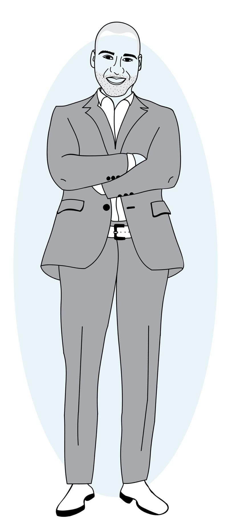 K9 Digital Marketing Owner Cartoon - Matt