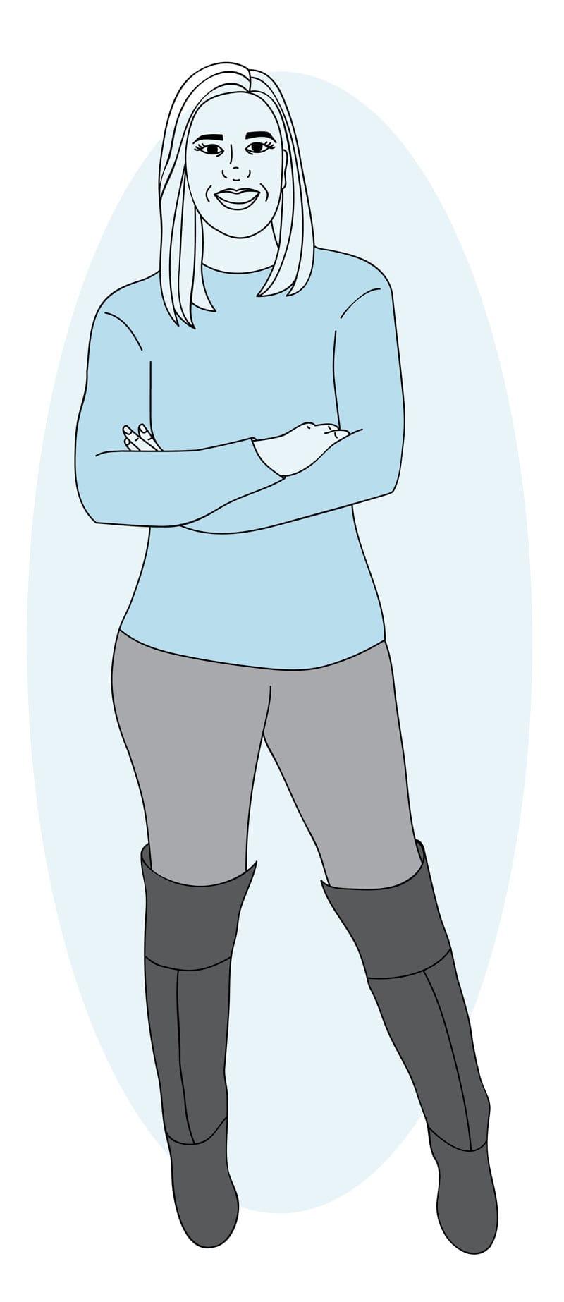 K9 Digital Marketing Team Member Cartoon - Megan